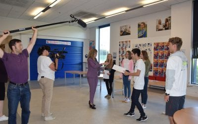 The BBC visit us to report on GCSE results day 2020