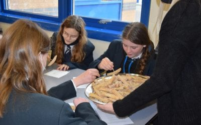Key stage 3 students experiment with a taste of Spain.