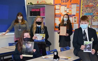 Two endangered species join Team Birchwood, thanks to the Eco-committee.